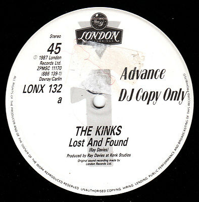 "The Kinks - Lost And Found Very Rare UK 12"" inch Promo 1987 with Interview"