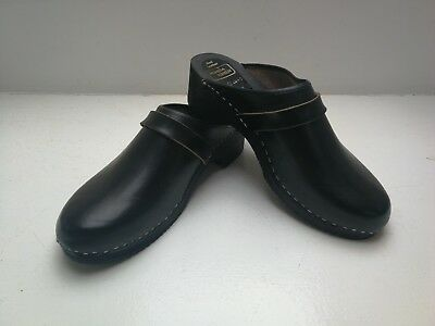 Brand New Unworn Swedish Moheda Toffeln Real Leather Clogs Size 10 /10.5 Euro 45
