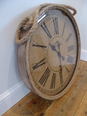 Extra Large Vintage Antique Style Kilkenny Rope Wall Clock - Brand New And Boxed