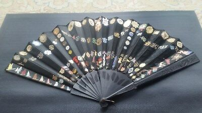 Collectible 1920s hand-decoratedyoung woman's fan