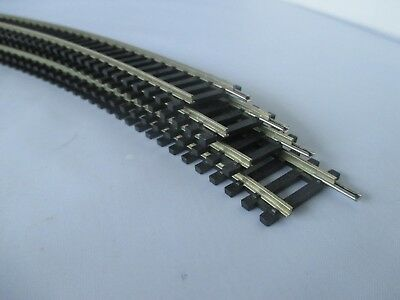 4 x HORNBY R609 DOUBLE CURVED NICKEL TRACK 3RD RADIUS. EXCELLENT USED