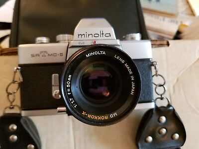 Vintage Minolta SrT Mc-ll 35 mm with extra's