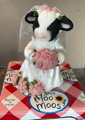 Enesco Mary's Moo Moos Bride Wishing You A Lifetime Of Udder Joy