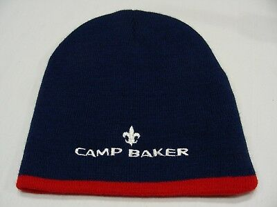 Camp Baker - Boy Scouts - Adult Size Stocking Cap Beanie Hat!