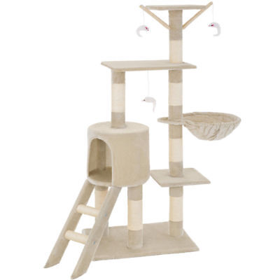 Cat Tree Scratch POST Sisal Climbing Bed Toys Scratcher Activity Centre