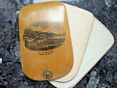 ANTIQUE MAUCHLINEWARE  AIDE MEMOIRE/NOTEBOOK - Kilmun/Strone Point