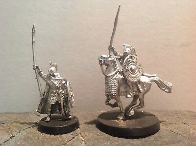 Lord Of The Rings Eorl The Young  Mounted & Foot 2 Metal Figures