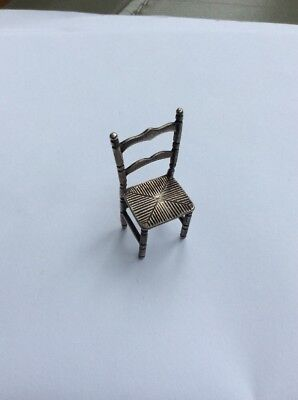 Sterling Silver Dolls House Chair