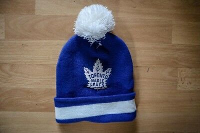 Mitchell & Ness Toronto Maple Leafs Beanie Cap Toque Bobble Hat NHL Ice Hockey