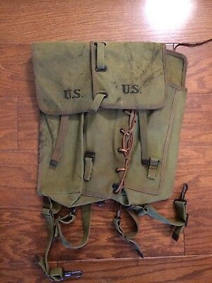 WW2 US Army Equipment (?) Back Pack Field Gear