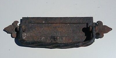 Old Cast Iron Knocker and Letterbox