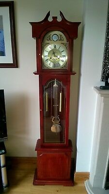 Mahogany Grandmother Clock - very good condition - working and keeps good time