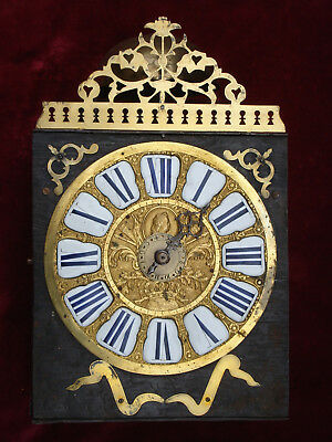 Spectacular Fine Early 18Th C French Comtoise 8 Day Wall Clock Superb Clockwork