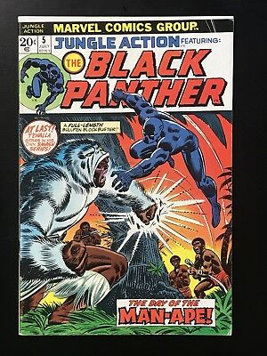 JUNGLE ACTION #5 - 1st solo Black Panther Double-cover Mark Jewelers Variant!