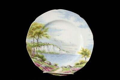 """""""Cliffs of Dover"""" Salad Plate By Paragon Gold Trim Made In Scenic England"""