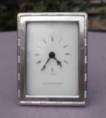 Garrad London Silver Hallmark Framed Clock