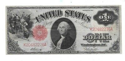 1917 $1 Large Red Seal United States Note