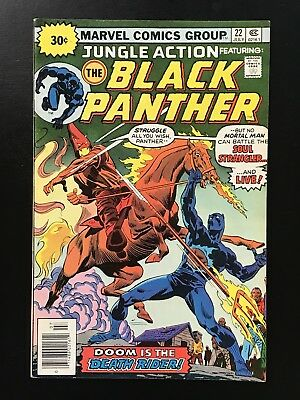 JUNGLE ACTION #22 (1976) 30 Cent Variant - Higher Grade Black Panther! FN/VF