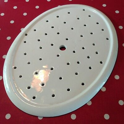Antique Draining Plate Strainer Vintage White China Kitchenalia Shabby Chic