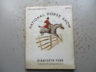 80th Annual NATIONAL Horse Show & Program for 1963