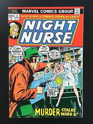 NIGHT NURSE #3 (1973) High Grade VF