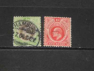 Southern Nigeria stamps for sale - 2 used early stamps - nice pair !!