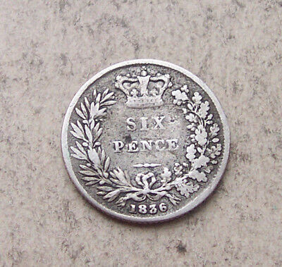 scarcer 1836 sixpence