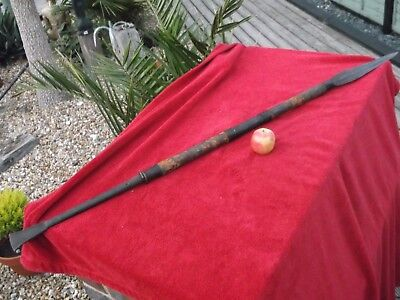 Original Antique African Tribal Spear Hunting Zulu Masai Congo Mali Original !