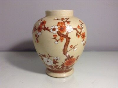 Vintage ACF Japanese Vase - Porcelain Ware Decorated in Hong Kong - Hand Painted