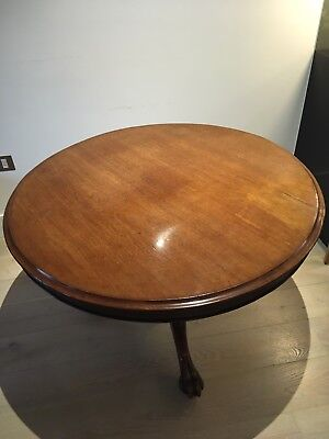 Victorian Mahogany Circular Dining Table.  Flip Top