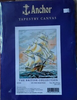 Tapestry Canvas - ON THE HIGH SEAS  -  The British Collection  KT93C    NEW