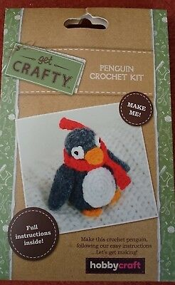 CROCHET KIT -  Penguin Crochet Kit with full instructions  -  HOBBYCRAFT   NEW