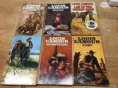 Lot Of 6 Preowned Louis L'Amour Western Novels Vintage