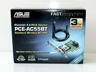 ► Asus PCE-AC55BT AC1200 WiFi + Bluetooth PCIe Karte Dualband Wlan in OVP, TOP!
