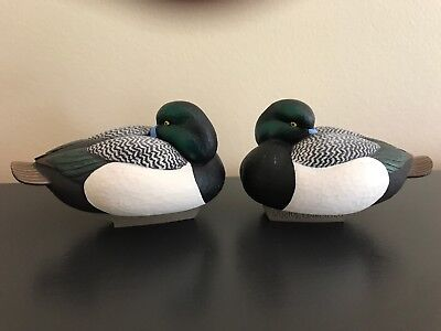 "2004 ""Ducks Unlimited"" Jett Brunet Miniature Duck Decoy -  Scaup -"