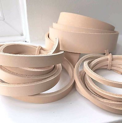 100 cm long NATURAL VEG TAN LEATHER STRAP BELT BLANK 4mm thick various width