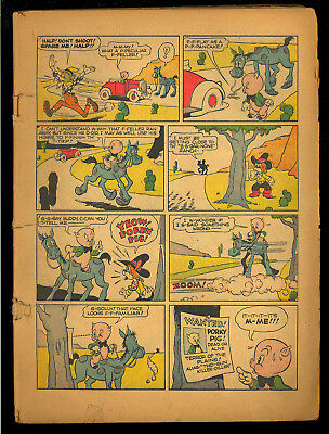 Looney Tunes and Merrie Melodies Comics #2 Coverless & Missing 3 Wraps Dell 1941