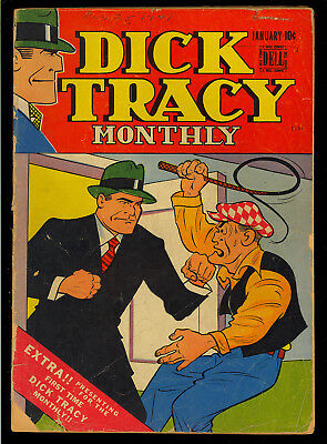 Dick Tracy Monthly #1 Nice First Issue Golden Age Dell Comic 1948 GD+
