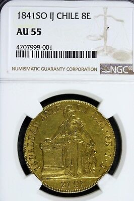 1841 - Ngc Au55 So Ij Chile 8E!!!  #b11441