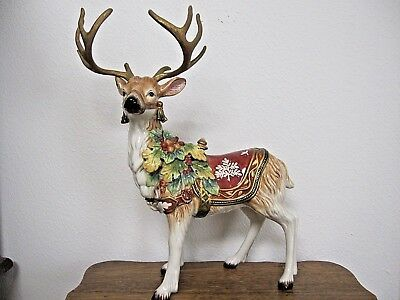 "Fitz and Floyd Classics ""Holiday Solstice"" Reindeer Excellent Condition"