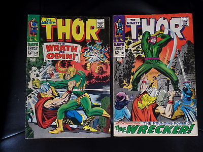 Mighty Thor Two Issue Lot #147 and 148 Fine or Better — No Reserve