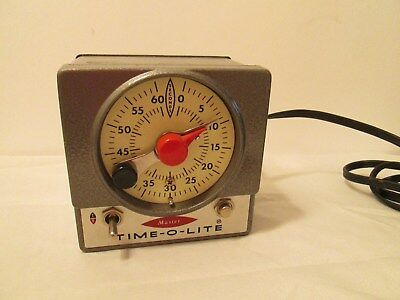 Time-O-Lite Master M-72 Darkroom Timer Industrial Working