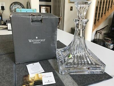 """SUPERB RARE 10 1/2"""" Waterford CLARION CUT CRYSTAL SHIPS DECANTER w/Stopper MINT"""