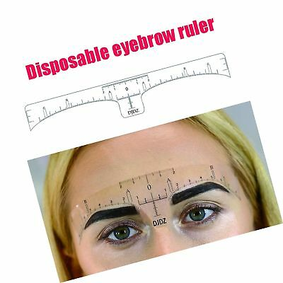 DJDZ 50pcs Disposable Soft Accurate Eyebrow Ruler Sticker Microblading Makeup...