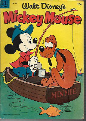 Mickey Mouse 1954,Issue #37 FN $.10 Comic