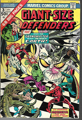 The Defenders 6 Comic Lot Issues 3,7,14,31,34,41 1973  VG/FN
