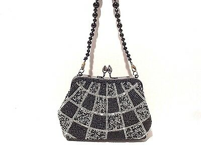 Beaded Evening Bag Clutch With Beaded Strap + Add Strap #Bm2029 #Blk