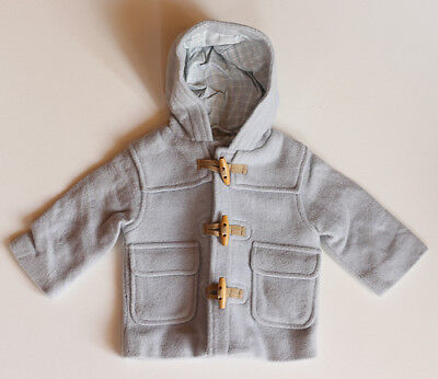 JANIE and JACK Boys Baby Blue Coat W/Hood 3 6 Months New