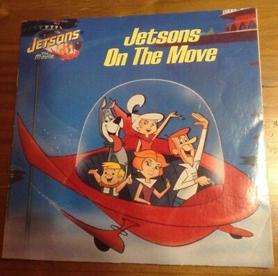 """Vintage """"Jetsons on the Move"""" kids book animated cartoon Movie softcover 1990"""