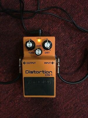 MODDED Boss DS-1 Distortion Guitar Effect Pedal with Reverb.com mod